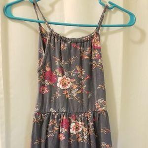 Girls floral spaghetti strap dress size L 10/12